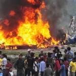 सीता एयरको विमान जल्दै गरेको अवस्थामा। फोटो सौजन्यः एपी
