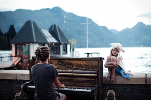 Streets of Queenstown, New Zealand at the end of one more day filled with adrenaline. Calming and doleful scene with piano sound in the background.