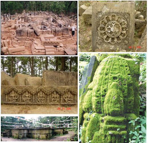पुरातत्व विभागले त्यहाँ उत्खनन् गर्दा बुद्धसहित धेरै देवीदेवताका मूर्ति भेटिएको थियो। विभागले यहाँ मन्दिर भएको ठहर गरेको थियो। तर मन्दिर कसले बनाएको थियो ? कसरी भत्कियो ? भूँइचालोले हो कि, बाहिरियाहरुको आक्रमणबाट हो कि ? केही थाहा छैन। उत्खननबाट प्राप्त दुई हजारभन्दा बढी शिलालाई सूचिकरण गरियो। त्यसपछि बजेट अभाव भयो र सब त्यहाँ यत्तिकै लेउ लागेर बसेको छ। जिर्णोद्धारको कसैलाई वास्तै छैन।