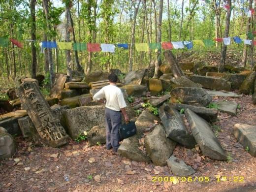 कांक्रे विहारको भग्नावशेष। फोटो साभारः pixnepal.wordpress.com