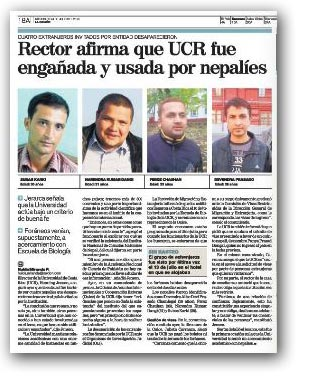 ला नेसियोँ पत्रिकामा छापिएको समाचार