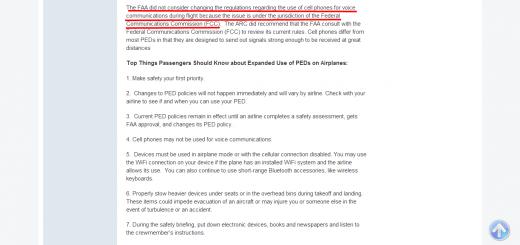 FAA को PED नीति