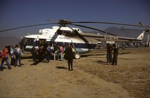 हराएको हेलिकप्टरको फाइल फोटो