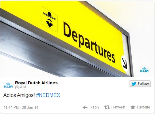 KLM-tweet