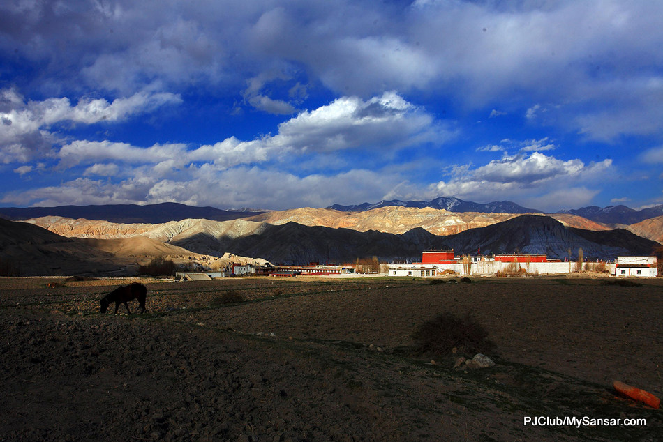 The forbidden kingdom of Lo Manthang has always fascinated the world with its vibrant colours, unique culture and architecture. In recent times, the interest in Lo Manthang region has increased with archaeological discoveries of a vibrant past often dubbed as the cave civilization. Photo: Laxmi Prasad Ngakhusi.