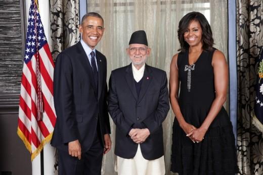 1-PM Koirala with Obama Couple