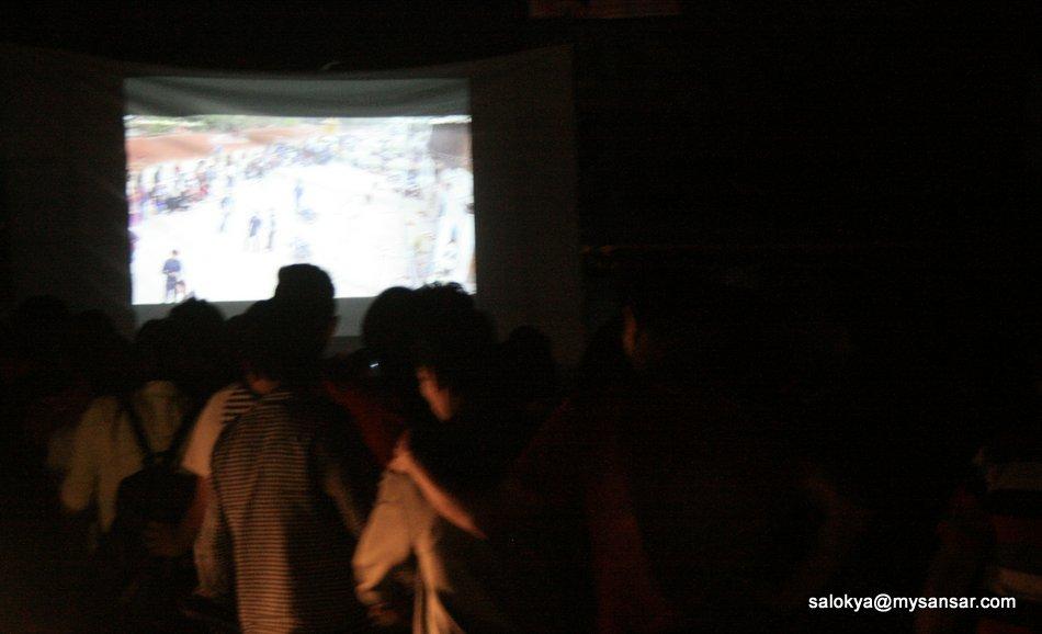 मखनमा भूकम्पको भिडियो प्रदर्शन