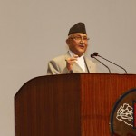 KP Oli at Parliament