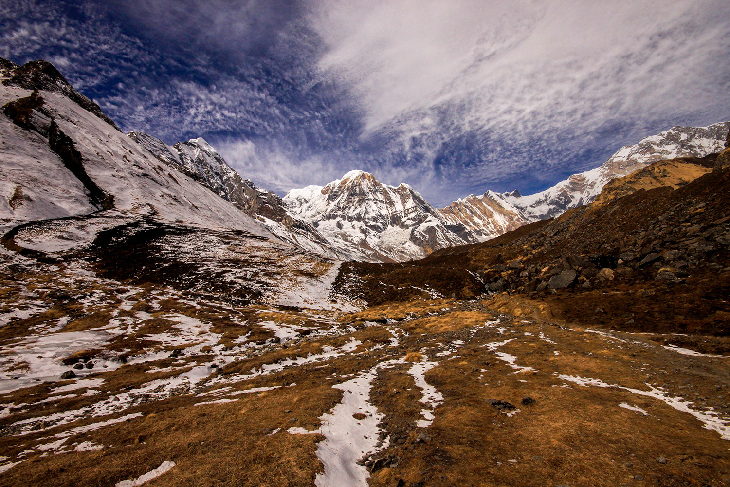 Annapurna Base Camp is one of the most sought after trekking route in Nepal and offers visitors a unique opportunity to experience Gurung culture and nature's splendid splendors.  Photo: Santosh Manandhar